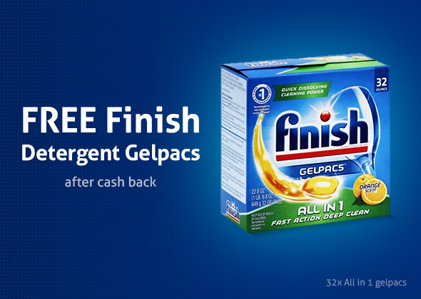 Free Finish Powerball Tabs Dishwasher Detergent Tablets 32